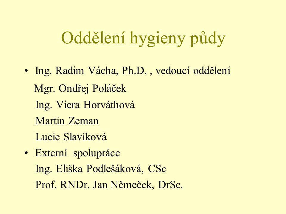 Ing. Radim Vácha, Ph.D., vedoucí oddělení Mgr. Ondřej Poláček Ing.