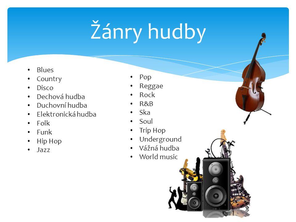POP Hudba s výrazně zpívanou melodií Pravidlo- stát se hitem Cíl komerčního úspěchu Vznikl v 60.