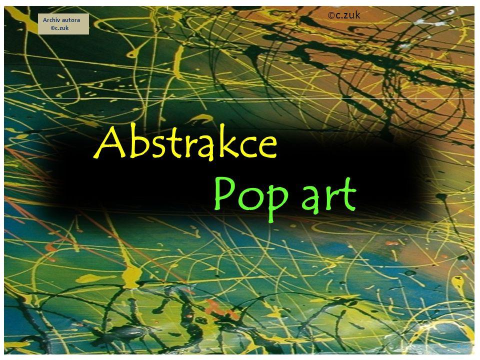 Abstrakce Je to bezpředmětné malířství z počátku 20.