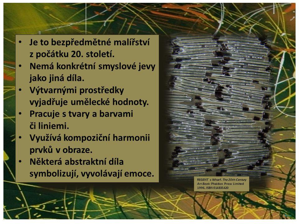©c.zuk Fermežová abstraktní malba Vrchní vrstva tvoří husté nápadné hrboly v malbě.