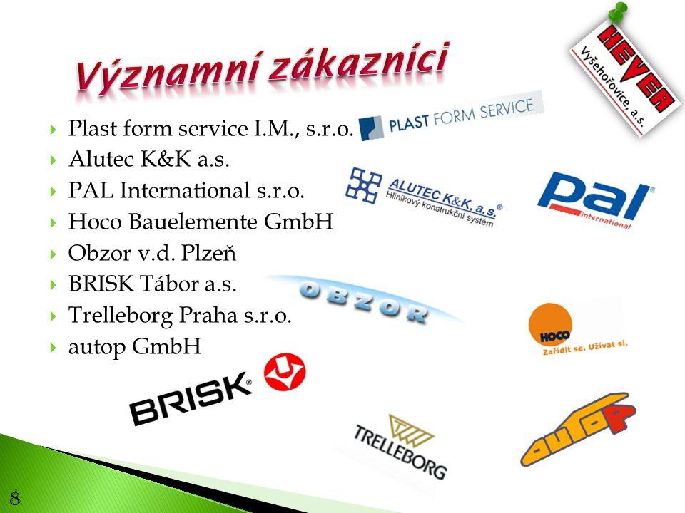 8  Plast form service I.M., s.r.o. Alutec K&K a.s.