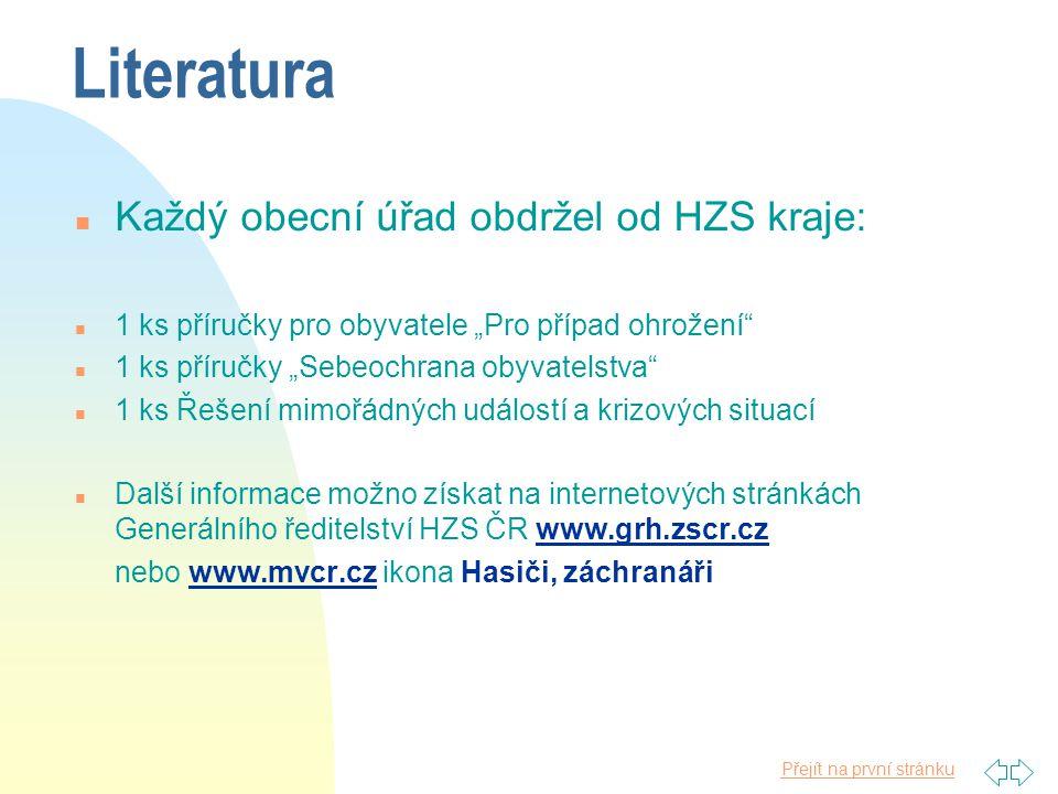 Přejít na první stránku Prevence závažných havárií ® ® n Zákon č. 59/2006 Sb., o prevenci závažných havárií způsobených vybranými nebezpečnými chemick
