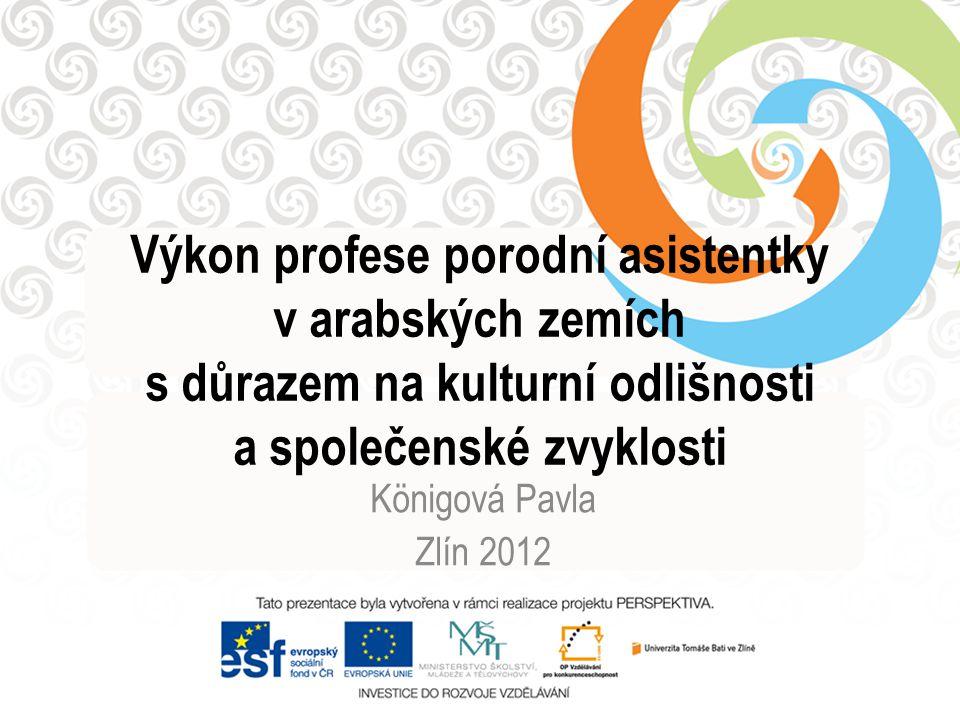 Výkon profese porodní asistentky v arabských zemích s důrazem na kulturní odlišnosti a společenské zvyklosti Königová Pavla Zlín 2012