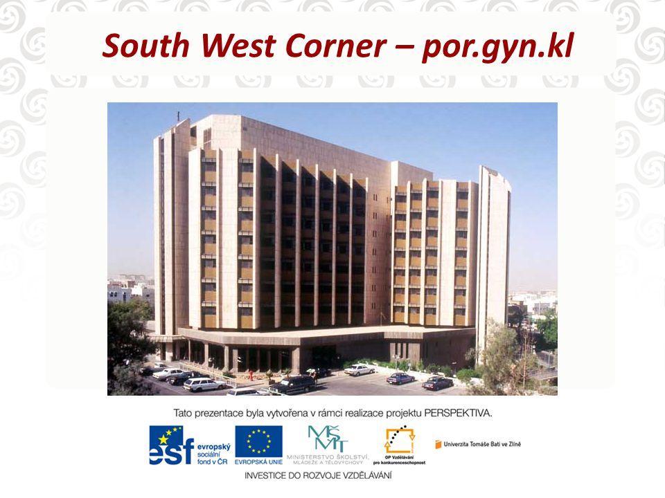 South West Corner – por.gyn.kl