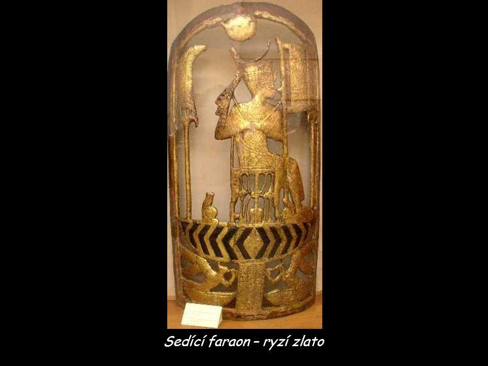 Sedící faraon – ryzí zlato