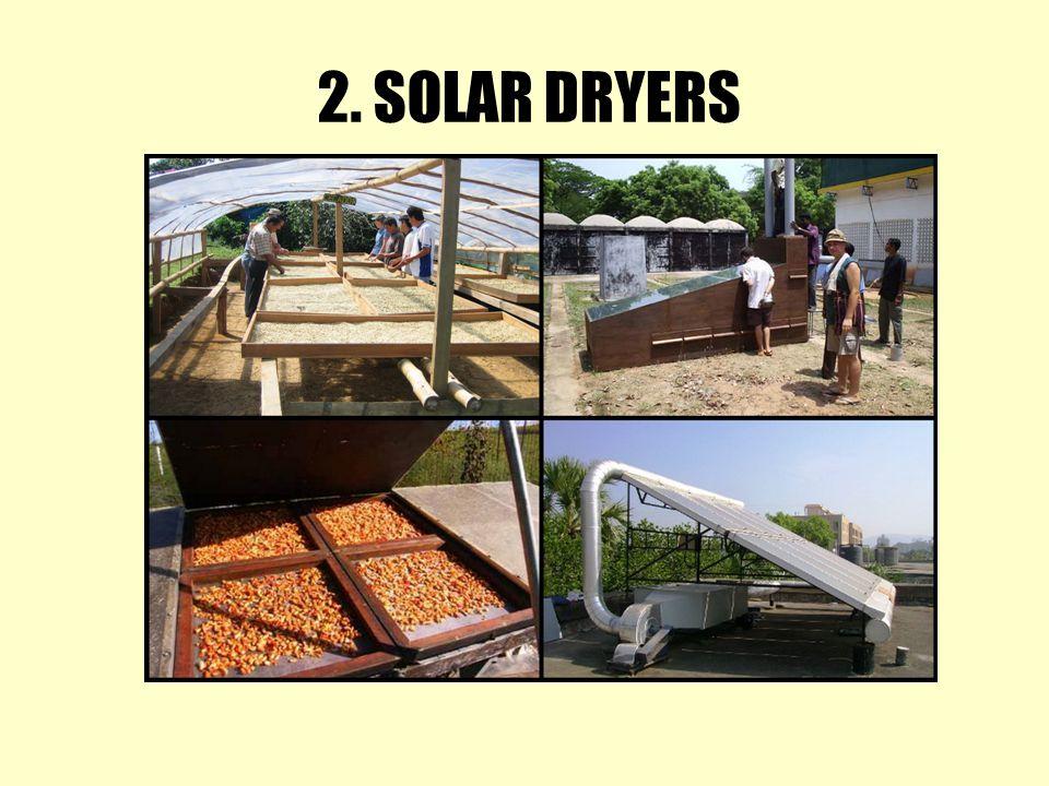 2. SOLAR DRYERS