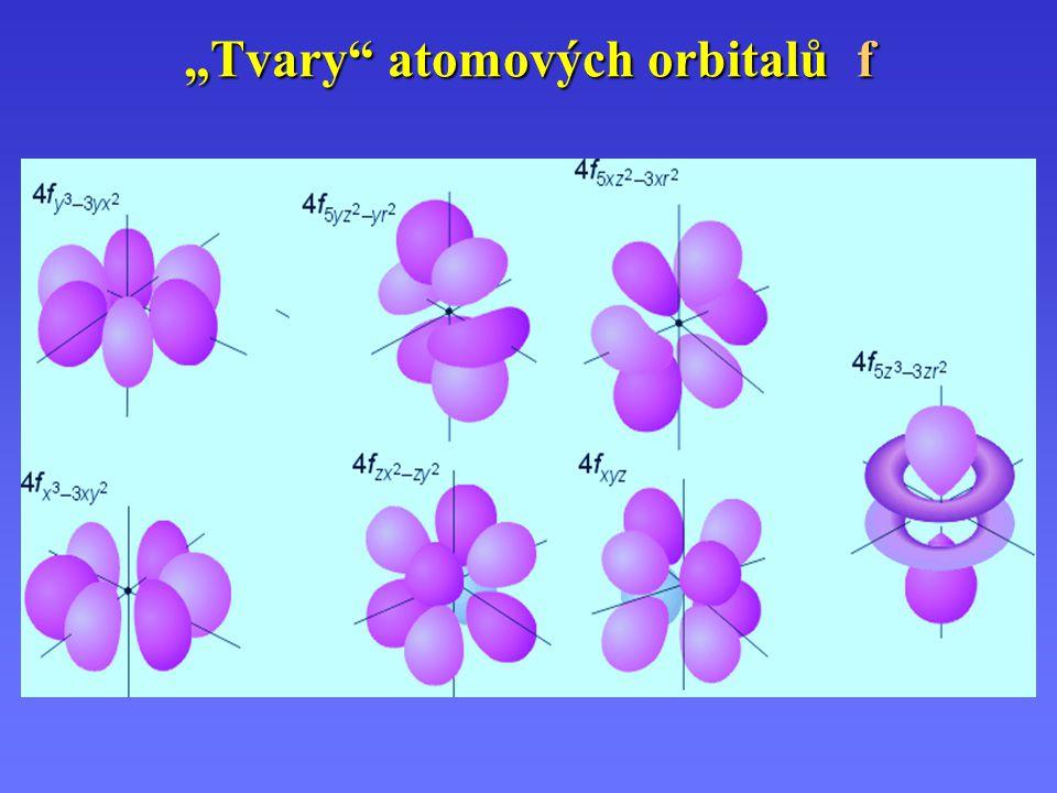 """""""Tvary"""" atomových orbitalů f"""