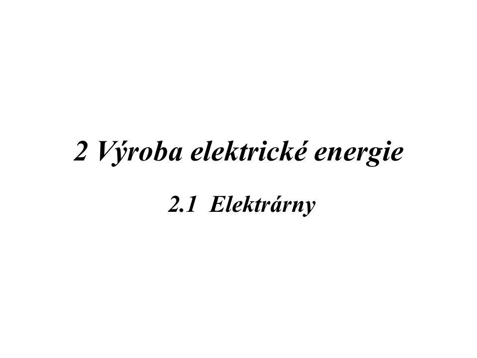 2 Výroba elektrické energie 2.1 Elektrárny