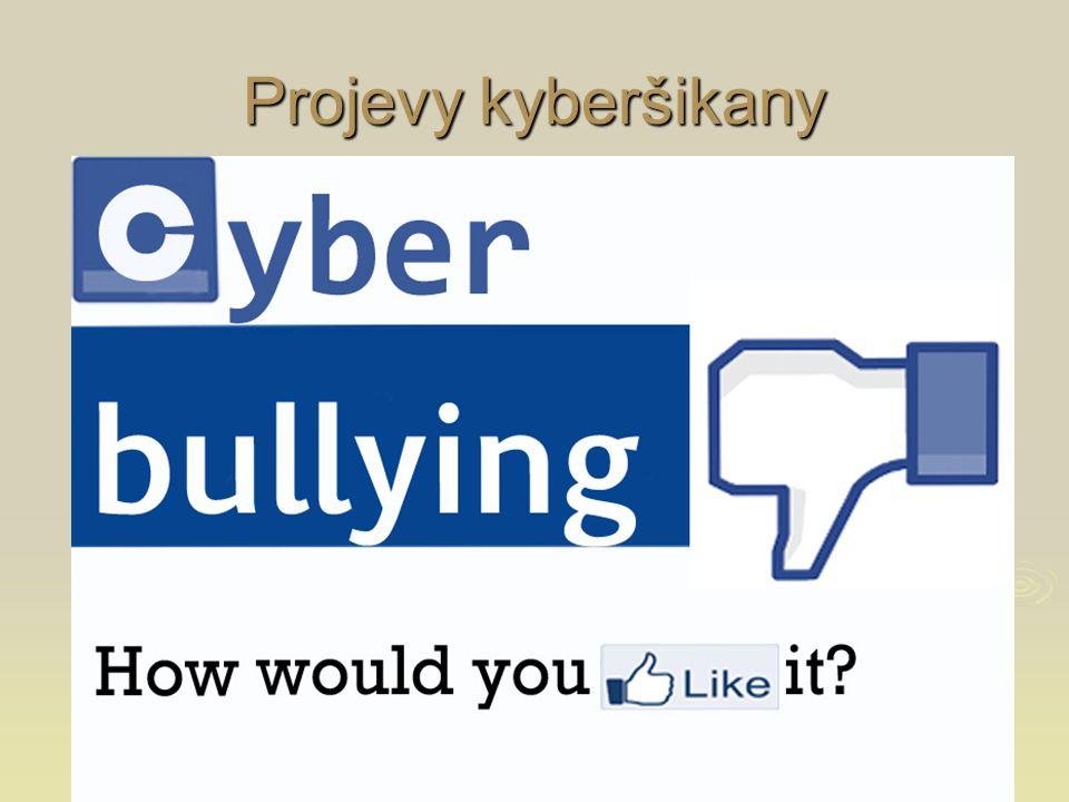 """ Nadávky, urážky, vyhrožování e-maily, vzkazy na profilech, SMS, chatovací místnosti e-maily, vzkazy na profilech, SMS, chatovací místnosti  Pomlouvání  Šíření osobních a citlivých informací zveřejňování soukromé komunikace, svěřených """"tajemství zveřejňování soukromé komunikace, svěřených """"tajemství  Vydávání se za někoho jiného, krádeže hesla  Vyloučení ze skupiny a ostrakizace např."""