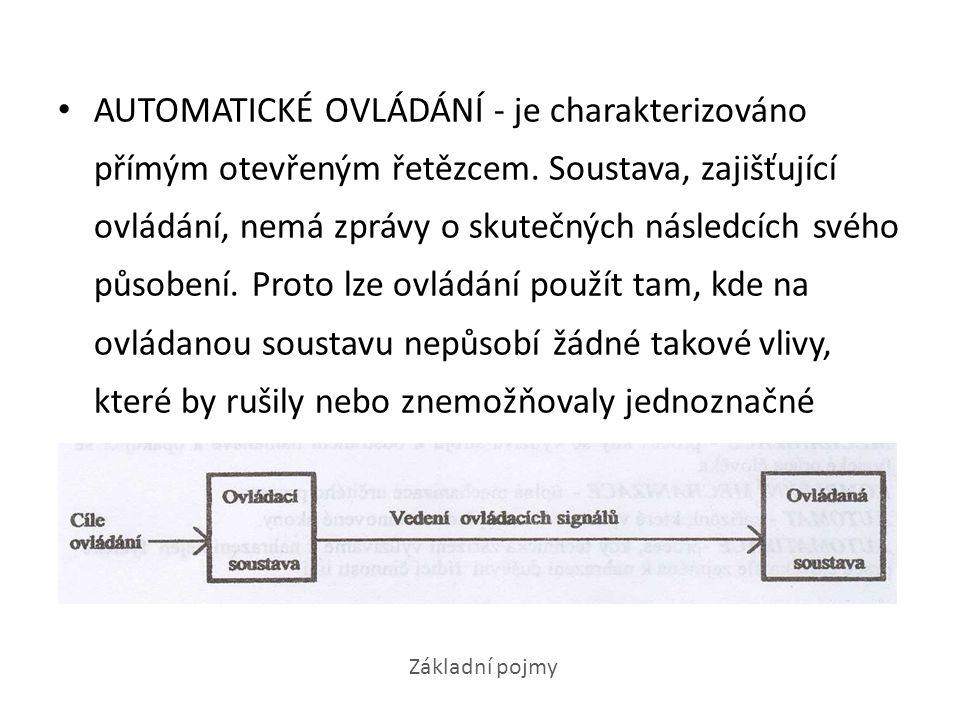 DÁLKOVÉ OVLÁDÁNÍ - je ovládání, kdy ovládací soustava je natolik vzdálena od ovládané soustavy, že je nutno jejich propojení řešit zvláštním zařízením dálkového přenosu ovládacích pokynů.
