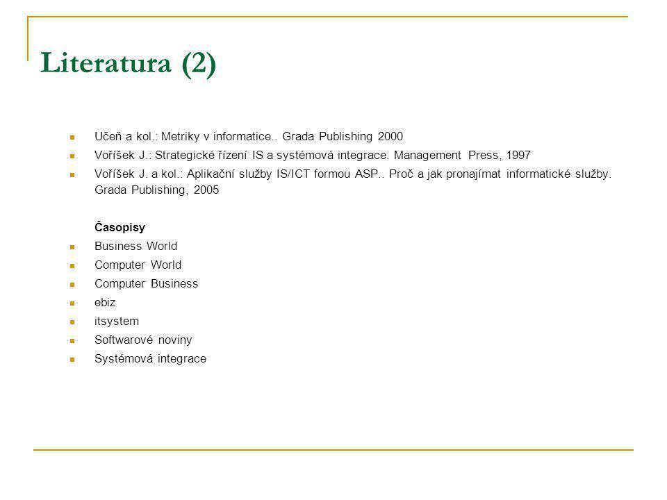 Zájmová sdružení související s PIS Česká společnost pro systémovou integraci www.cssi.czwww.cssi.cz Sdružení pro informační společnost www.spis.cz www.spis.cz Česká asociace manažerů úseků informačních systémů www.cacio.cz