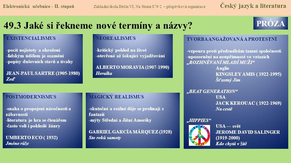 49.3 Jaké si řekneme nové termíny a názvy.Elektronická učebnice - II.
