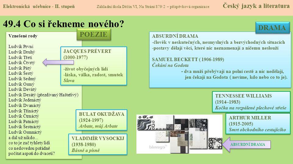 49.4 Co si řekneme nového.Elektronická učebnice - II.