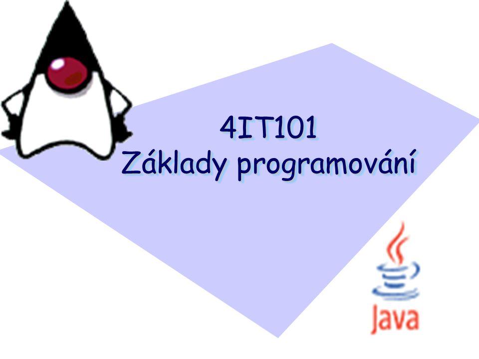 Java – jak vytvořit třídu (zapsat kód)