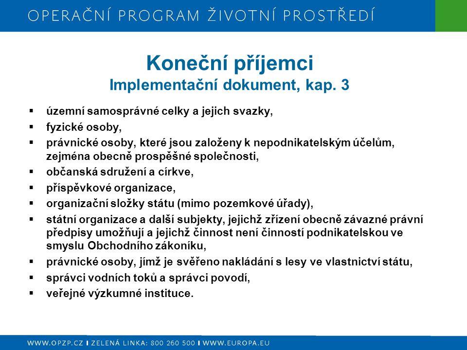 Koneční příjemci Implementační dokument, kap.