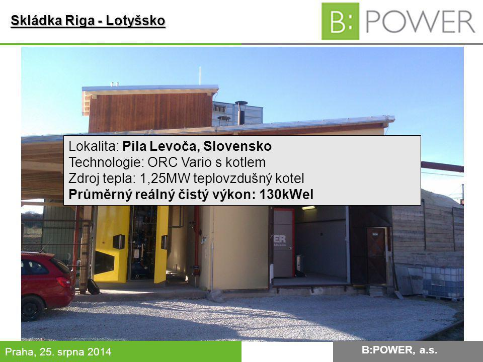 B:POWER INVESTMENT, a.s.Praha, 25. srpna 2014 Skládka Riga - Lotyšsko B:POWER, a.s.