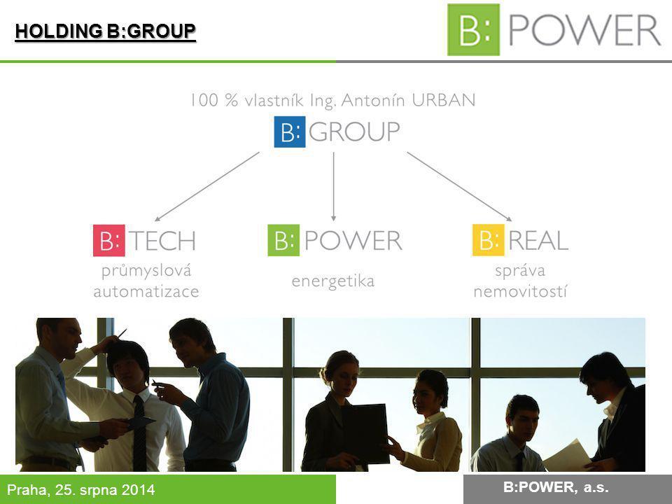 B:POWER INVESTMENT, a.s.Praha, 25. srpna 2014 B:POWER, a.s.