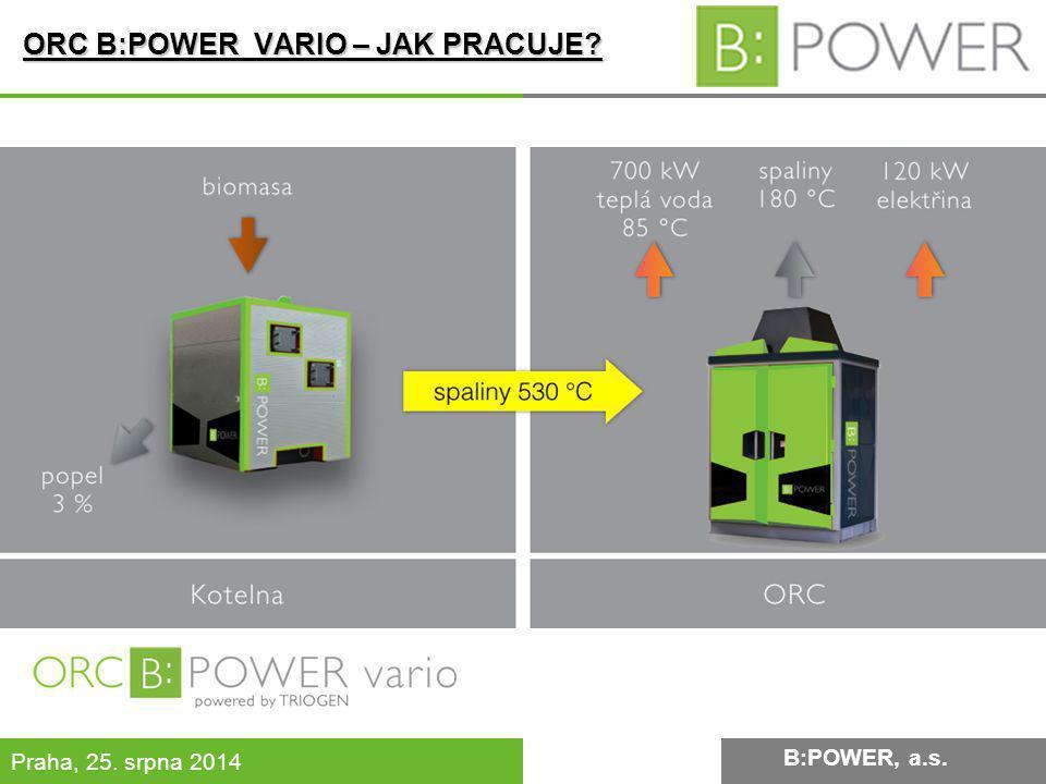 B:POWER INVESTMENT, a.s. Praha, 25. srpna 2014 B:POWER, a.s. ORC B:POWER VARIO – JAK PRACUJE?