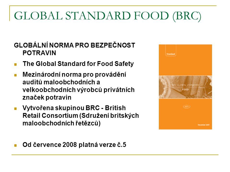 INTERNATIONAL FOOD STANDARD (IFS) MEZINÁRODNÍ POTRAVINÁŘSKÁ NORMA (IFS) Mezinárodní norma pro provádění auditu maloobchodních a velkoobchodních výrobců privátních značek potravin Vytvořena skupinou HDE (Hlavní svaz německého maloobchodu) a FCD (Sdružení obchodních a distribučních podniků Francie) Srpen 2007 – oficiální vydání anglické verze č.5