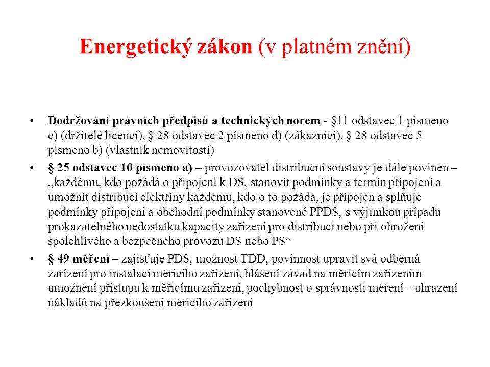 Prováděcí vyhlášky k energetickému zákonu Vyhláška č.