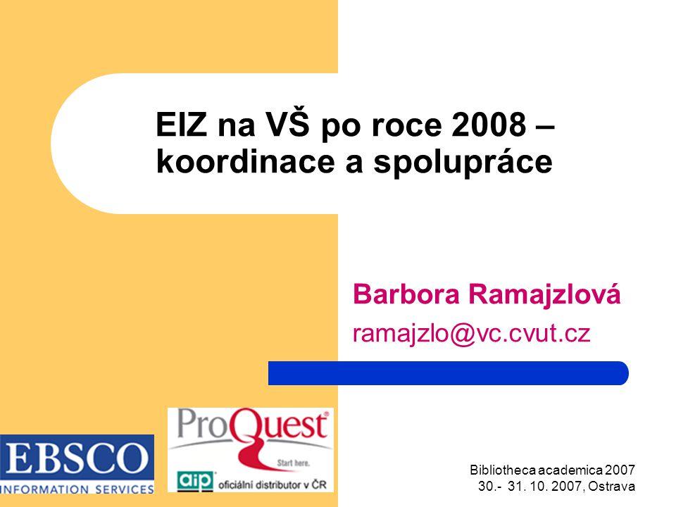 Bibliotheca academica 2007 30.- 31. 10.