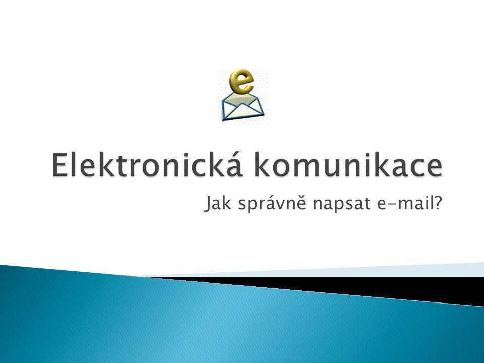 Jak správně napsat e-mail?