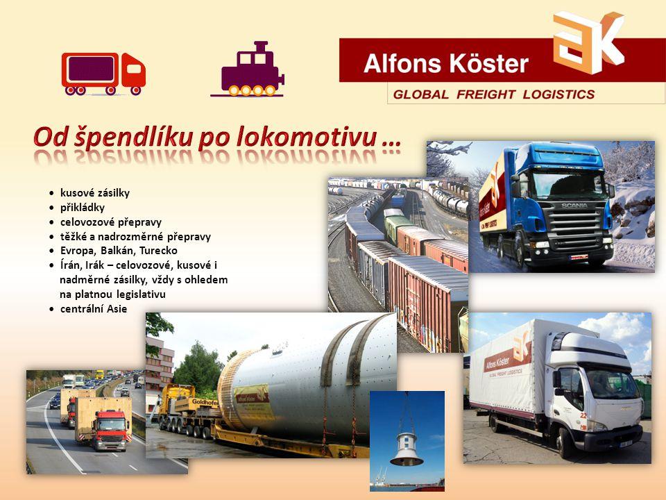 kusové zásilky přikládky celovozové přepravy těžké a nadrozměrné přepravy Evropa, Balkán, Turecko Írán, Irák – celovozové, kusové i nadměrné zásilky, vždy s ohledem na platnou legislativu centrální Asie