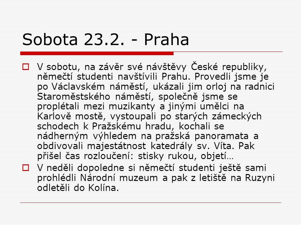 Sobota 23.2.