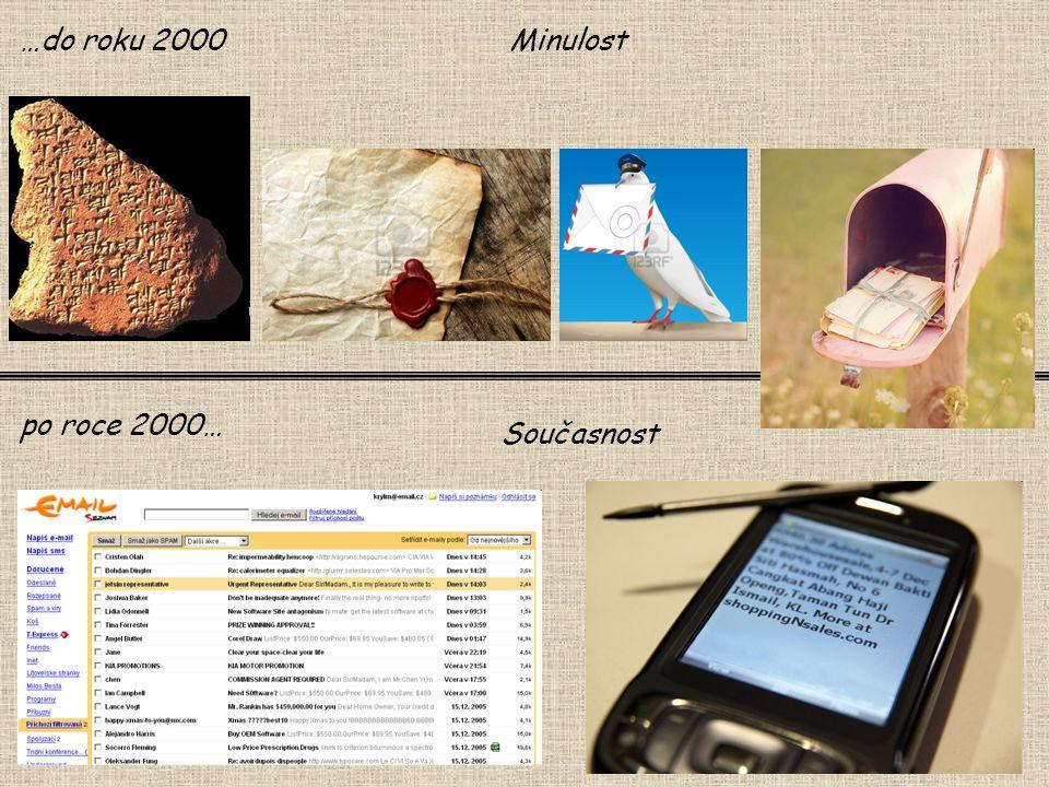 Minulost Současnost po roce 2000… …do roku 2000