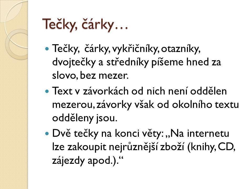 Opakování Co je na tomto zápisu špatně: česko – anglický slovník.
