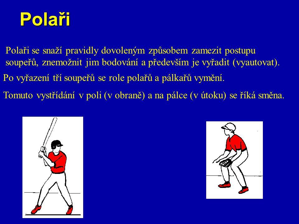 Polaři Polaři se snaží pravidly dovoleným způsobem zamezit postupu soupeřů, znemožnit jim bodování a především je vyřadit (vyautovat). Po vyřazení tří