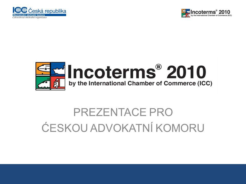 Pravidla INCOTERMS® poskytují výklad souboru třípísmenových podmínek odpovídajících obchodu se zbožím na podkladě kupní smlouvy.