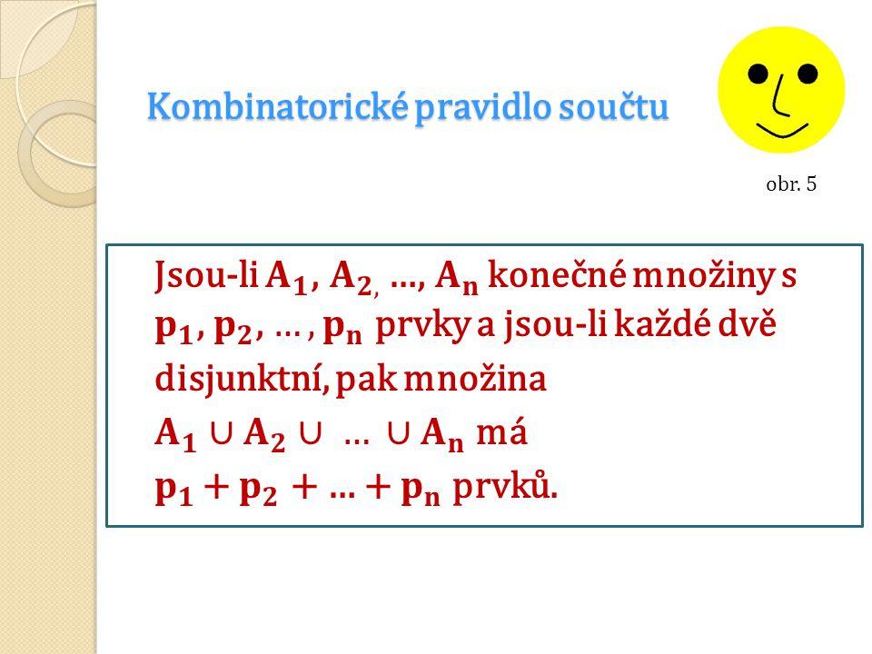 Kombinatorické pravidlo součtu obr. 5