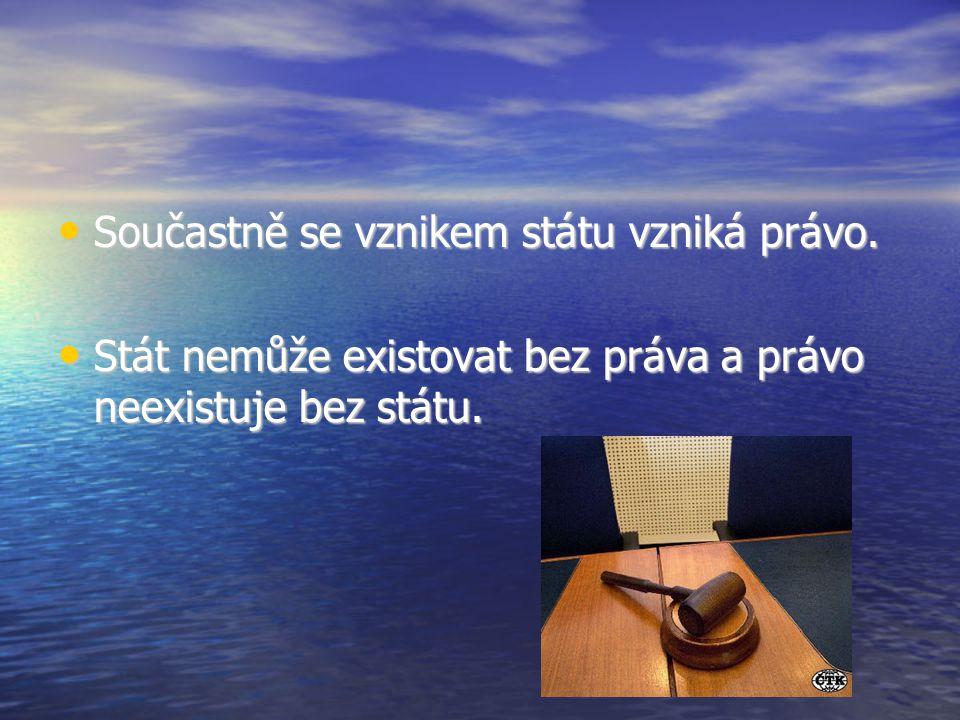 Součastně se vznikem státu vzniká právo. Součastně se vznikem státu vzniká právo.