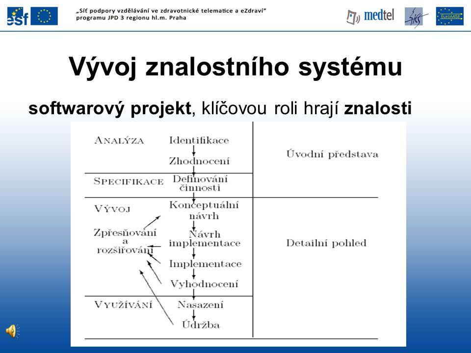 Vývoj znalostního systému softwarový projekt, klíčovou roli hrají znalosti