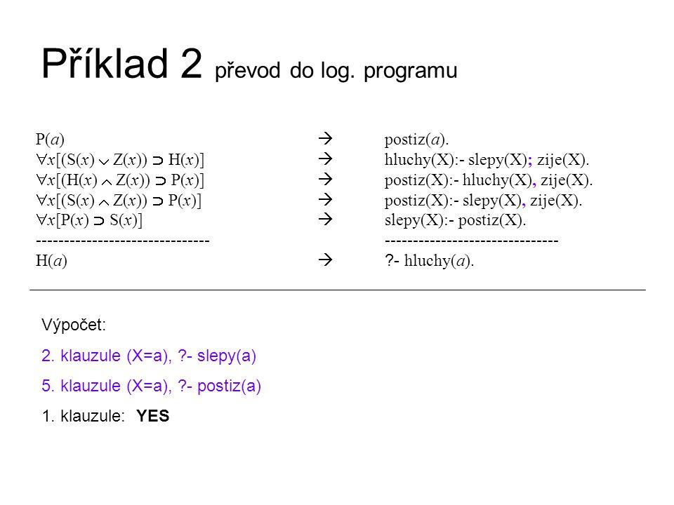 Příklad 2 převod do log.