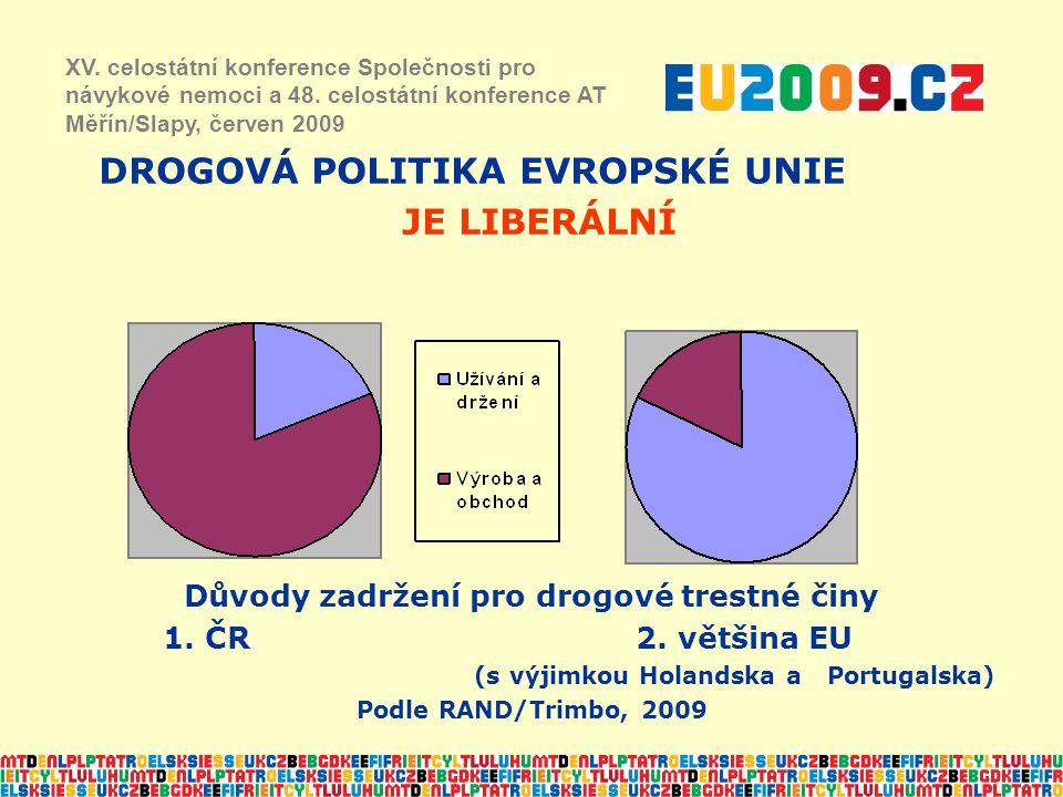 DROGOVÁ POLITIKA EVROPSKÉ UNIE JE LIBERÁLNÍ XV.