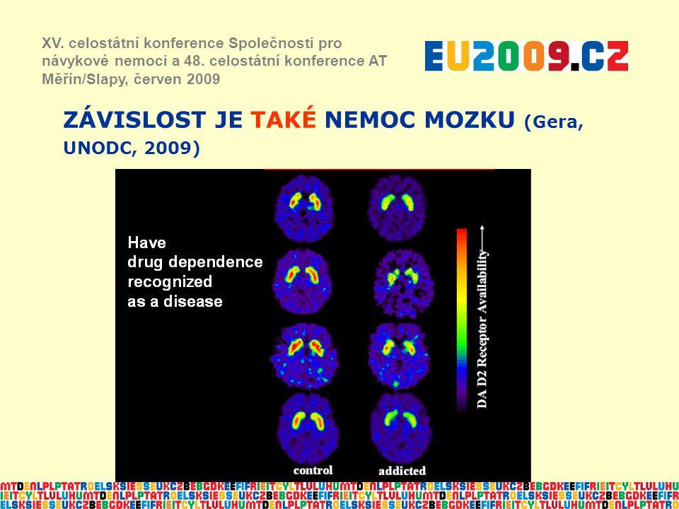 ZÁVISLOST JE TAKÉ NEMOC MOZKU (Gera, UNODC, 2009) XV. celostátní konference Společnosti pro návykové nemoci a 48. celostátní konference AT Měřín/Slapy