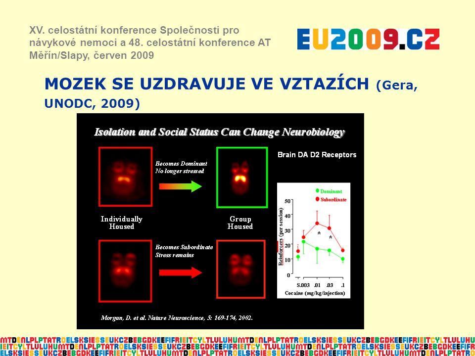 MOZEK SE UZDRAVUJE VE VZTAZÍCH (Gera, UNODC, 2009) XV. celostátní konference Společnosti pro návykové nemoci a 48. celostátní konference AT Měřín/Slap