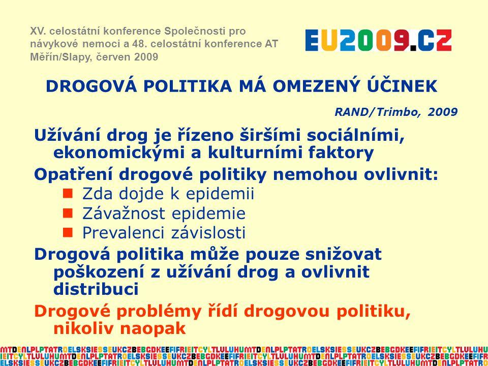 DROGOVÁ POLITIKA MÁ OMEZENÝ ÚČINEK RAND/Trimbo, 2009 XV.
