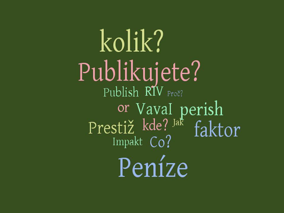 Publish or Perish.Co to je vědecká komunikace.