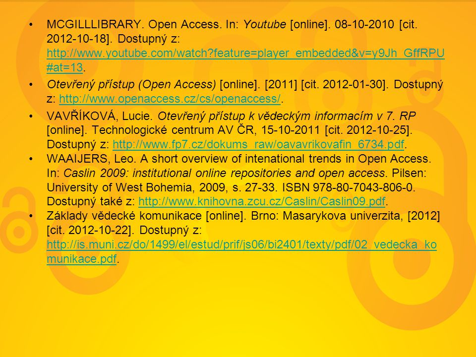 MCGILLLIBRARY. Open Access. In: Youtube [online].