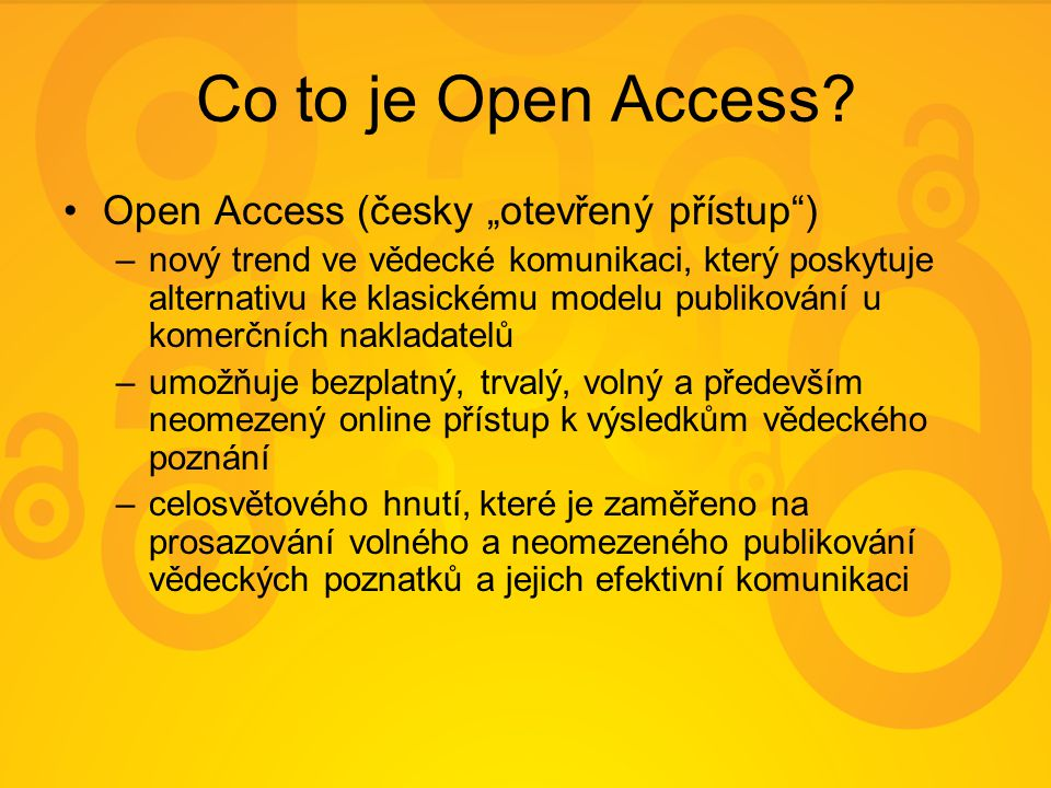 Co to je Open Access.