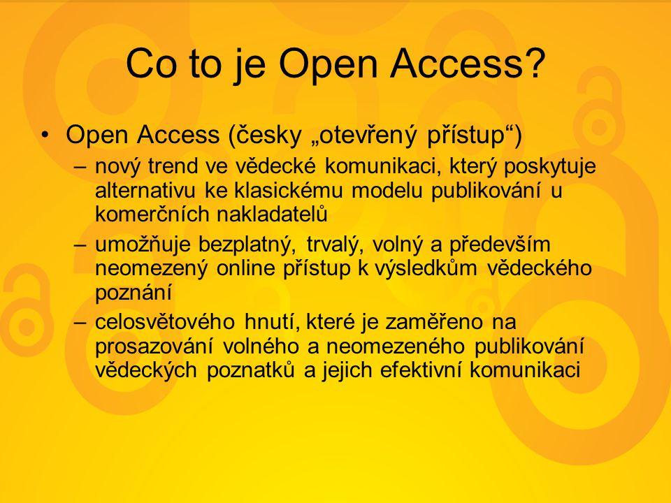 Další informace o OA další informace o OA naleznete – na stránkách Univerzitní knihovny http://knihovna.zcu.cz/open_access.php http://knihovna.zcu.cz/open_access.php –na stránkách české iniciativy OA http://www.openaccess.cz/cs/openaccess/ http://www.openaccess.cz/cs/openaccess/ –na stránkách věnovaných akci OA Week http://www.openaccessweek.org/ http://www.openaccessweek.org/