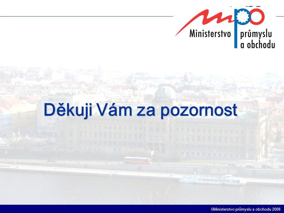 Ministerstvo průmyslu a obchodu 2008 Děkuji Vám za pozornost