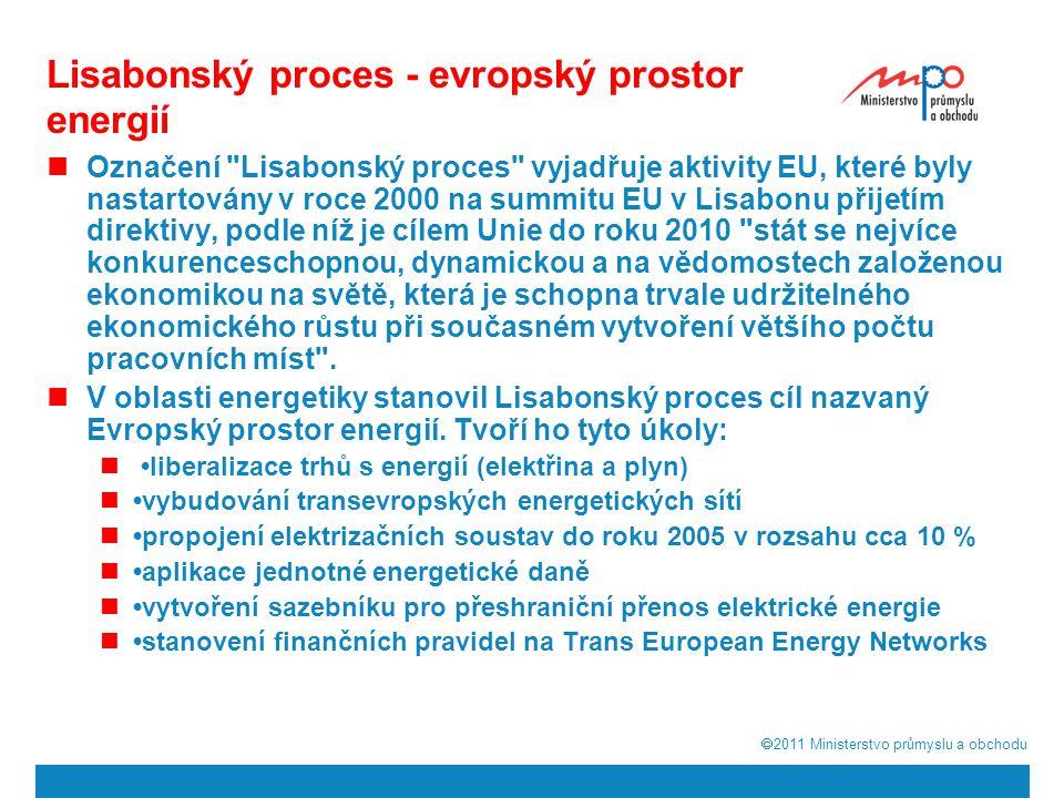  2011  Ministerstvo průmyslu a obchodu Jaderná energetika v evropském kontextu Přehodnocení renesance jádra Zátěžové testy stávajících elektráren Budoucnost evropské energetiky je bez jádra těžko představitelná především pokud chceme: omezit závislost na surovinách z nestabilních oblastí, vyrovnat se s rostoucími cenami ropy a plynu, dbát na ochranu ovzduší, využít průmyslový potenciál jaderné energie Je třeba zůstat realisty 6