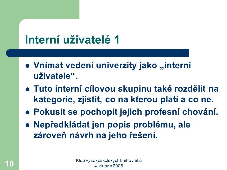 Klub vysokoškolských knihovníků 4.