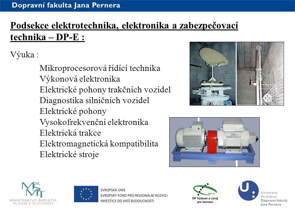 www.upce.cz Podsekce elektrotechnika, elektronika a zabezpečovací technika – DP-E : Výuka : Mikroprocesorová řídící technika Výkonová elektronika Elek