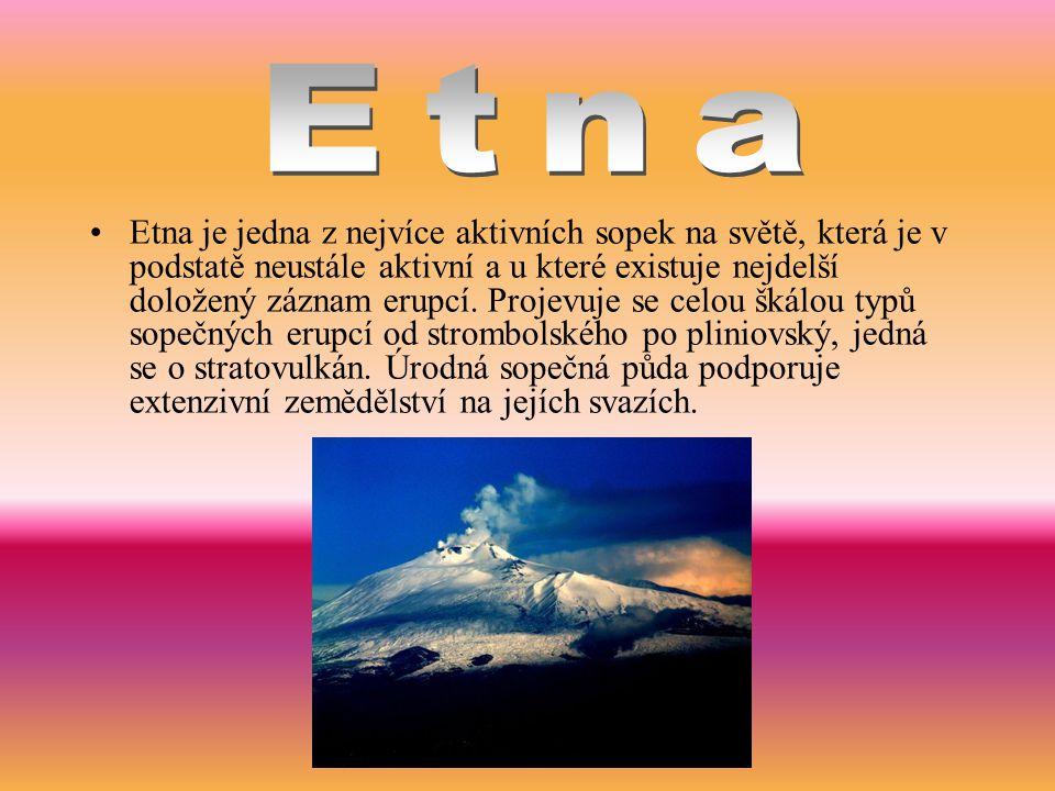 Etna je jedna z nejvíce aktivních sopek na světě, která je v podstatě neustále aktivní a u které existuje nejdelší doložený záznam erupcí. Projevuje s