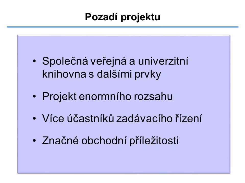 NPV PP Společná veřejná a univerzitní knihovna s dalšími prvky Projekt enormního rozsahu Více účastníků zadávacího řízení Značné obchodní příležitosti